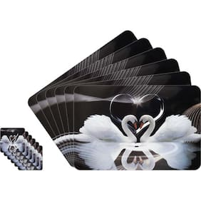 Dream Care Love Collection Printed 6 pcs Table Mats With 6 pcs Coasters