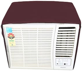Dream Care Maroon Colored Waterproof and Dustproof Window AC Cover for Hitachi 1.5 Ton 5 star AC RAT518HUD Summer TM
