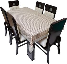 Dream Care Printed Waterproof Dinning Table Cover 6 Seater / 6 Seater Dinning Table Cover Plastic;Size 60x90 Inch;CA03