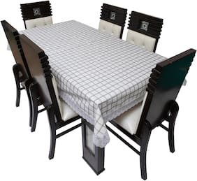 Dream Care Printed Waterproof Dinning Table Cover 8 Seater / 8 Seater Dinning Table Cover Plastic;Size 60x108 Inch;CA08