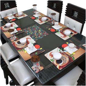 Dream Care Placemats for Dining Table With Coasters (6Pcs Mat + 6Pcs Coaster)