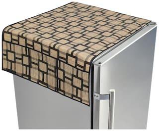 Dream Care PVC Printed fridge/Refrigerator top cover with 6 pocket