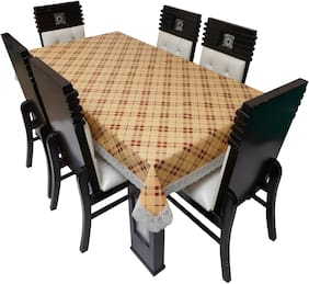 Dream Care Printed Waterproof Dinning Table Cover 8 Seater / 8 Seater Dinning Table Cover Plastic;Size 60x108 Inch;CA02