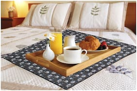 Dream Care Printed Waterproof & Oilproof Square Bed Server Food Mat