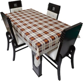 Dream Care Printed Waterproof Dinning Table Cover 4 Seater / 4 Seater Dinning Table Cover Plastic;Size 52x76 Inch;CA05