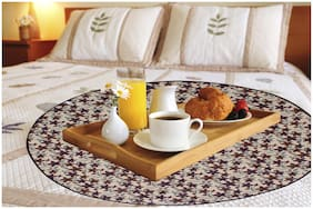 Dream Care Printed Waterproof & Oilproof Round Bed Server Food Mat