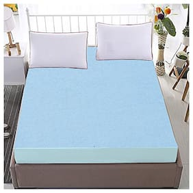 Dream Care Single bed Luxury Sky Blue Mattress protector(48x80)(wxl)