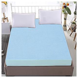 Dream Care Single bed Luxury Sky Blue Mattress protector(30x78)(wxl)