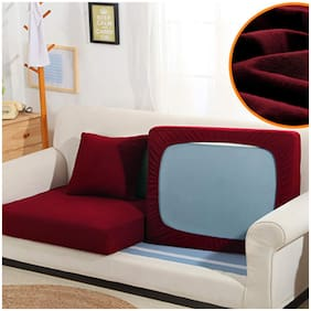 Dream Care Seat Protector Protector 3 Seater / Elastic Seat Protector Cover Protector Set of 6,Maroon,Size 23x23