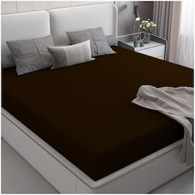 Dream Care Waterproof Terry Cotton Mattress Protector King Size Bed, 78x72, Coffee