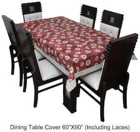 Dream CareTM Designer Waterproof Dining Table Cover 6 Seater 152.4 cm (60 inch) x 228.6 cm (90 inch) inch SAMS18