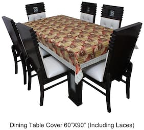 Dream CareTM Designer Waterproof Dining Table Cover 6 Seater 152.4 cm (60 inch) x 228.6 cm (90 inch) inch SAMS01