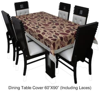 Dream CareTM Designer Waterproof Dining Table Cover 6 Seater 152.4 cm (60 inch) x 228.6 cm (90 inch) inch SAMS19