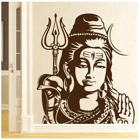 DreamKraft Shiv Ji Wall Sticker Murals DIY Posters Vinyl Removable Art Decals 48.26 cm (19 inch) X 53.34 cm (21 inch)