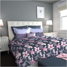 Dreamline Flower in Bloom  1 Double Bedsheet with 2 Pillow covers Set (DSN-06)