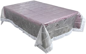 Dreamline Import Embossed Lace Edge Floral Pink Table Cover