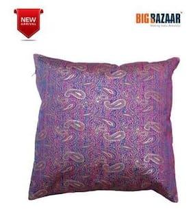 Dreamline Jacquard Paisley Print Multi-Colour Large Cushion Cover 1 PC