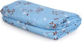 Dreamline Light Blue Floral Micro Double Dohar