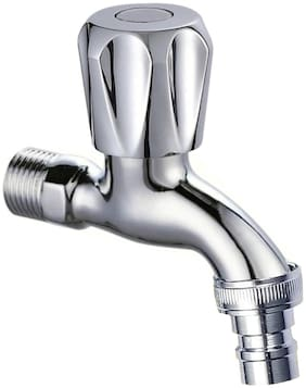 Drizzle CONTI NOZZLE BIB TAP / WASHIN MACHINE TAP CHROME PLATED - METAL Wall Mount Brass Wall Taps ( Handle Controlled )