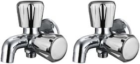 Drizzle CONTI 2 IN 1 BIB TAP BRASS, QUARTER TURN, FOAM FLOW - PACK OF 2 PIECES Wall Mount Brass Wall Taps ( Handle Controlled )