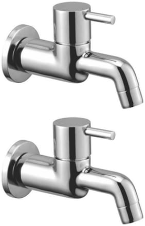 Drizzle FLORA LONG BODY BIB TAP BRASS, QUARTER TURN, FOAM FLOW - PACK OF 2 PIECES Wall Mount Brass Wall Taps ( Handle Controlled )
