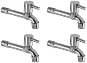Drizzle FLORAMINI LONG BODY BIB TAP , QUARTER TURN FOAM FLOW - PACK OF 4 PIECES Wall Mount Brass Wall Taps ( Handle Controlled )