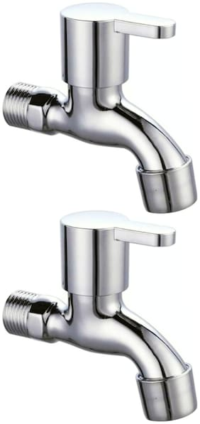 Drizzle FUSIONMINI BIB TAP , QUARTER TURN FOAM FLOW - PACK OF 2 PIECES Wall Mount Brass Wall Taps ( Handle Controlled )