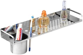 Drizzle Shelves With Tumbler Holder Stainless Steel / Wall Shelve 16 Inch Long
