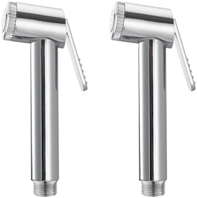 Drizzle SLEEK HEALTH FAUCET HEAD, TOILET BIDET, SINK SPRAYER - PACK OF 2 PIECES Wall Mount Abs Health Faucets ( Push Controlled )