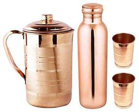 DVM 1500 ml Copper Copper Water Bottles - Set of 4