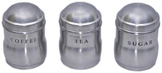 Dynamic Store Set Of 3 Tea Maharaja Canisters