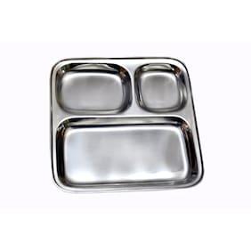 Dynamic Store Set Of 8 Stainless Steel Pav Bhaji Plate