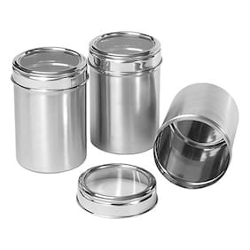 Dynamic Store Stainless Steel Kitchen Storage Canisters - Set Of 3