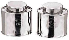 Dynamic Store Silver Tea And Sugar Canister