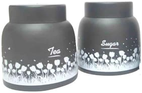 Dynore Black Pyramid Tea & Sugar canister