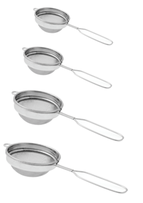 Dynamic Store Set Of 4 Classic Wire Handle Tea Strainer