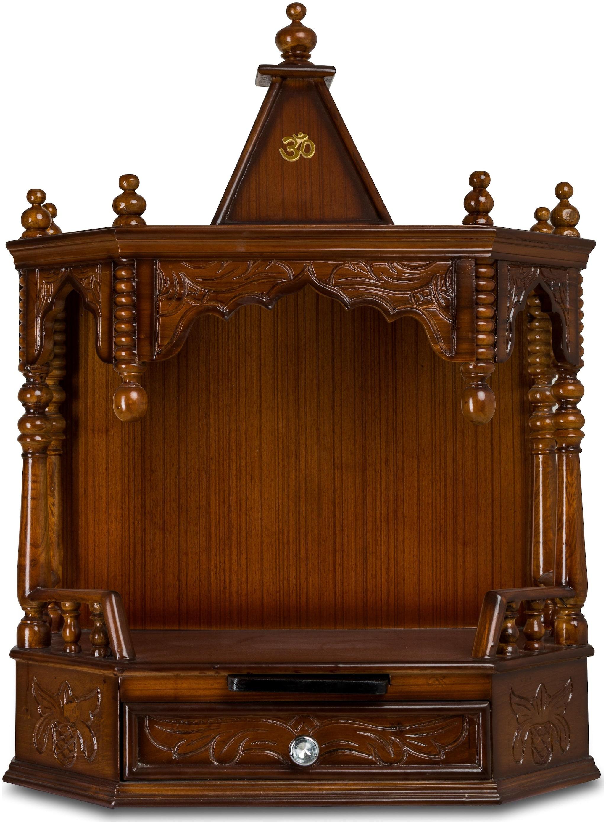 Dzyn Furnitures Himalayan Solid Teak Wood Home Temple