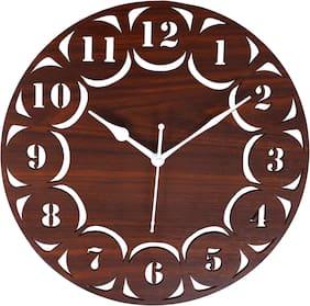 Edeal Wood Analog Wall clock ( Set of 1 )