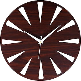 Edeal Wood Analog Wall clock ( Set of 1 )