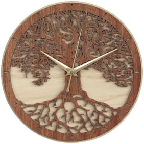 E-DEAL Wood Analog Wall clock ( Set of 1 )