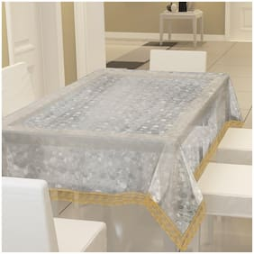 E-Retailer Classic Printed Coin Design Lace 8 Seater Dinning Table Cover
