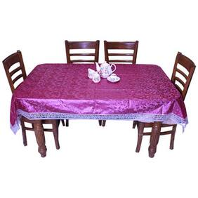 E-Retailer Classic Printed Leaves With Lace 8 Seater Dinning Table Cover