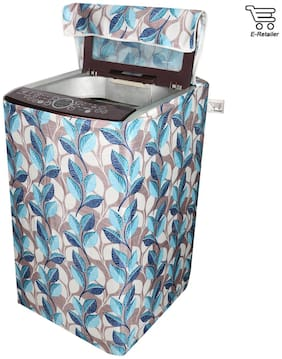 E-Retailer Classic Blue Leaves Design Top Load Washing Machine Cover
