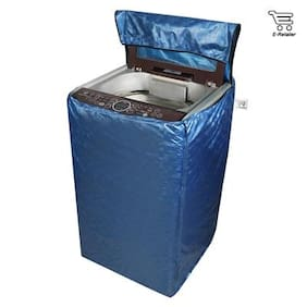 E-Retailer Classic Blue Colour With Square Design Top Load Washing Machine Cover