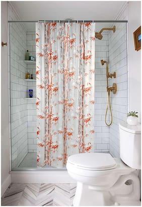 E-Retailer  Premium PVC Shower Curtain with 8 Hooks( Size 54x78 inch; 4.5x7 ft)
