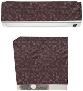 E-Retailer PVC WaterProof Split AC Cover for 1.5 Ton (Brown)
