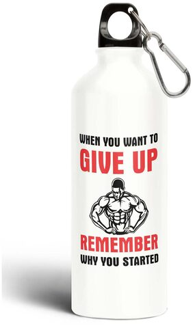 Eagletail India When You Want to Give Up Remember Why You Started Aluminium Sipper Bottle 750ML