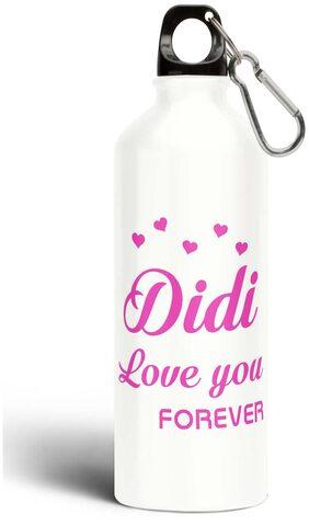 Eagletail India Didi love you forever Aluminium Sipper Bottle 750ML