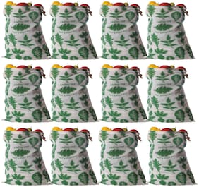 Earthy Fab Vegetable Storage Bags for Fridge Eco Friendly Cotton;Multipurpose;Reusable Grocery Bag Set of 12