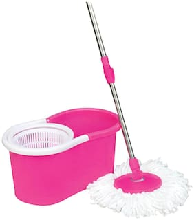 Easy Clean - Floor Cleaning Mop with Steel Rod - MultiColor